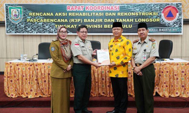 Bengkulu Provinsi Pertama Serahkan R3P ke BNPB RI