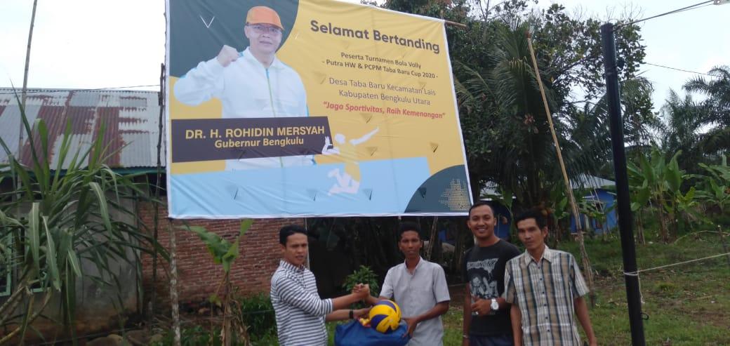 Gubernur Dukung Turnamen Voly Pemuda Muhammadiah Desa Taba Baru Cup 2020