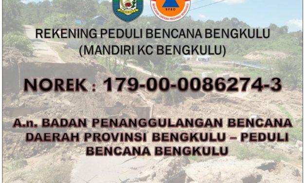 Donasi Rekening Bencana Bengkulu Rp. 432 Juta