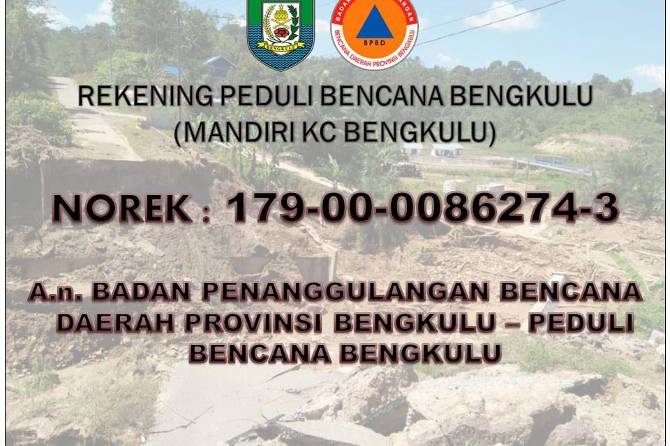 Donasi Bantuan Banjir dan Longsor Bengkulu Telah Terkumpul  390 Juta Rupiah