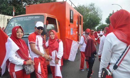 Kirab Bendera Merah Putih, BPBD Siapkan Toilet Portable